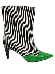 JEFFREY CAMPBELL | Green Zebra Ankle Boot