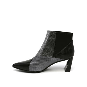 UNITED NUDE | Zink Patch Mid Heel in Silver