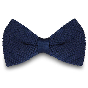 NAVY BLUE KNITTED BOW TIES