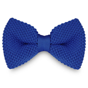 BLUE KNITTED BOW TIES