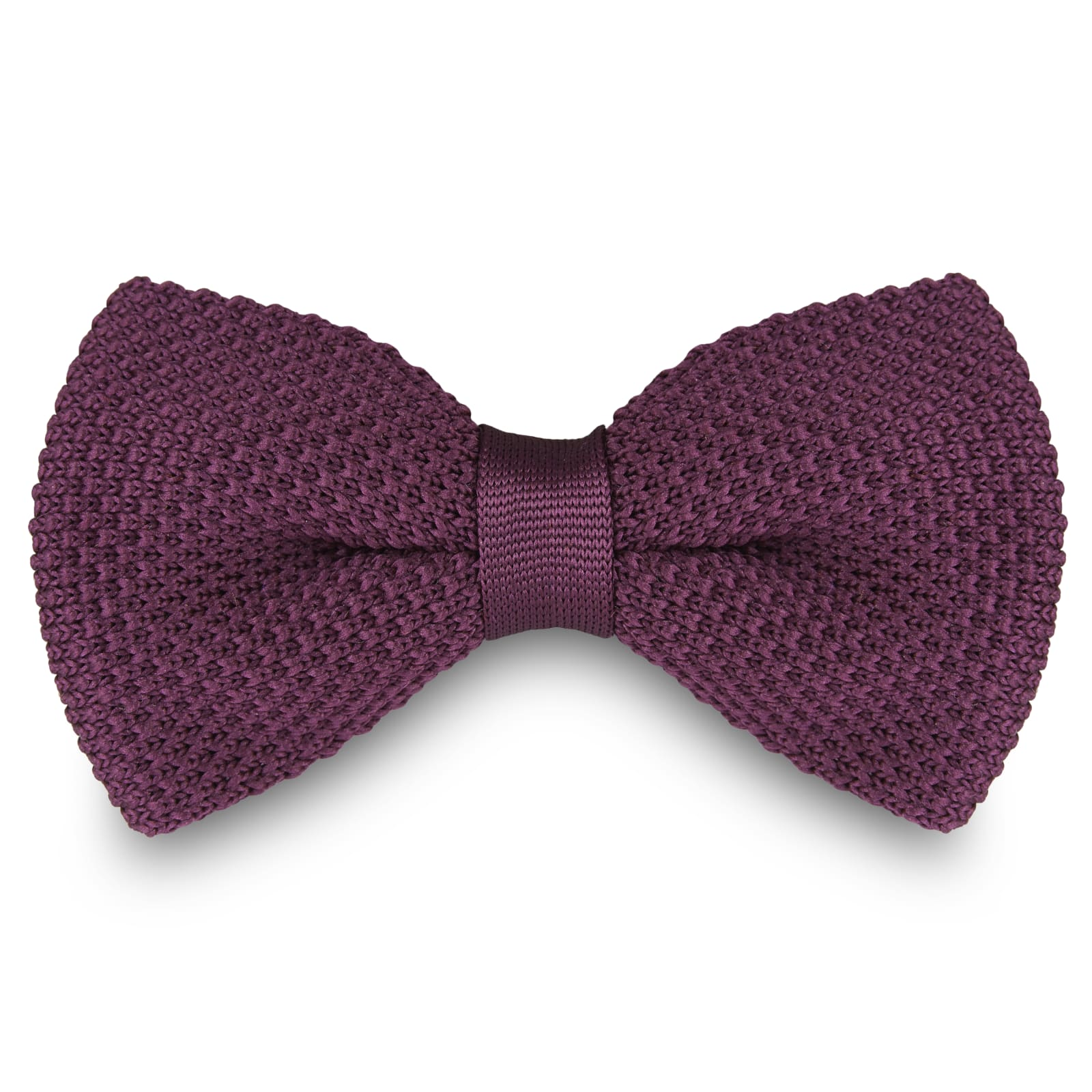 KNITTED PURPLE BOW TIES