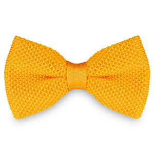 YELLOW KNITTED BOW TIES