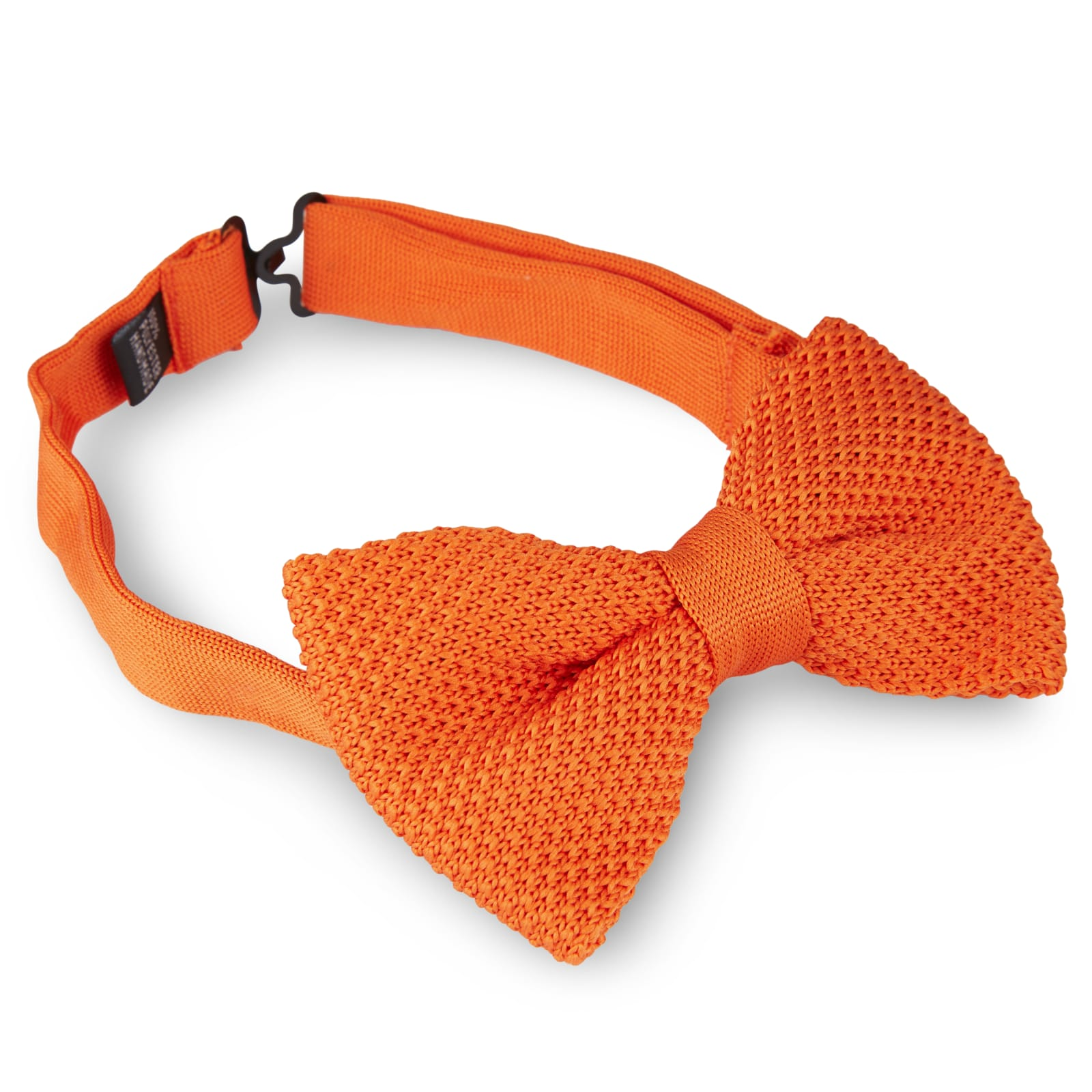 ORANGE/TERRACOTTA KNITTED BOW TIES