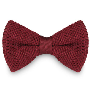 MAROON KNITTED BOW TIES