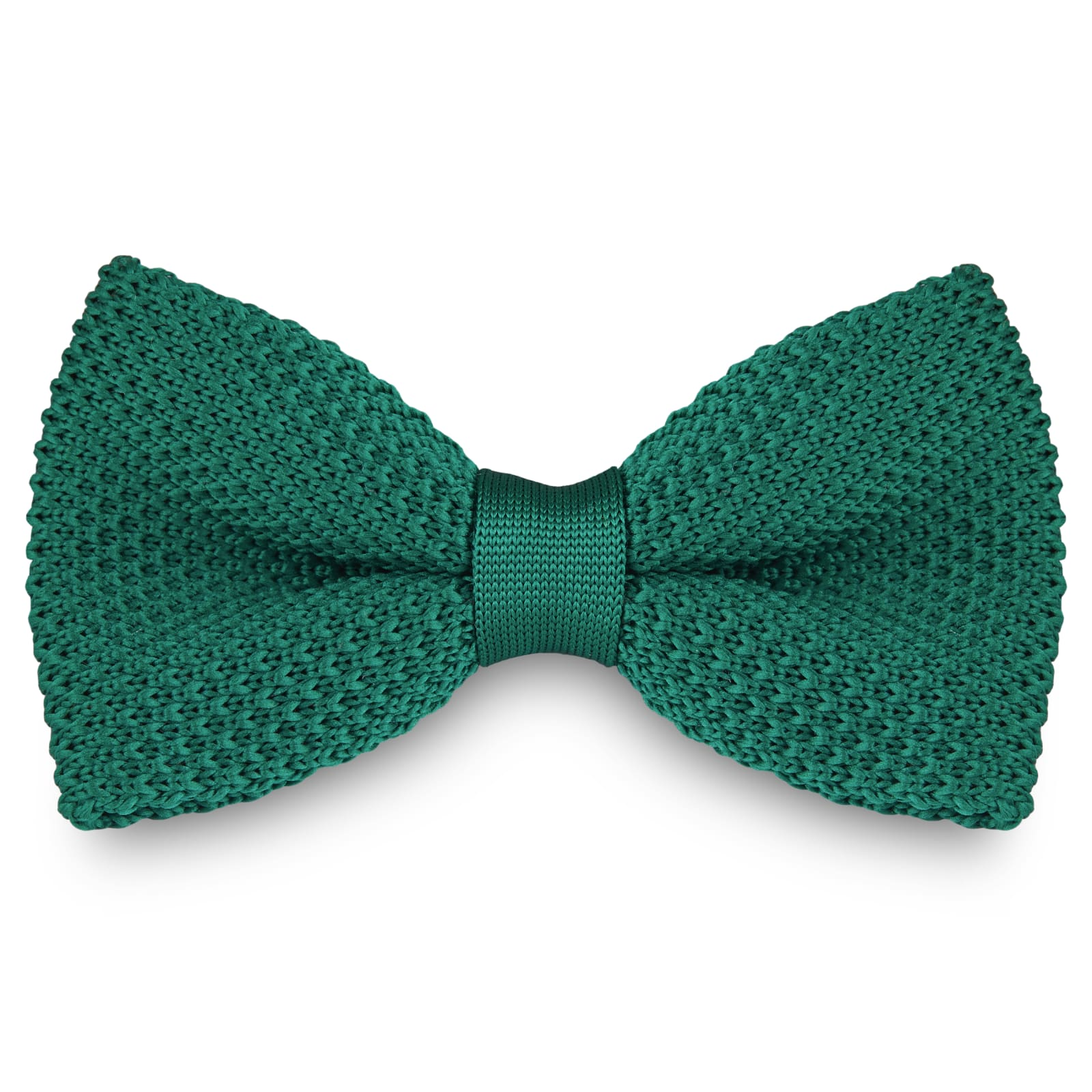 KNITTED FORREST GREEN BOW TIES