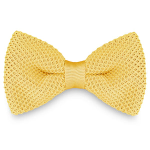 SOFT YELLOW KNITTED BOW TIES