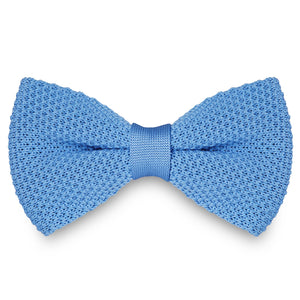 LIGHT BLUE KNITTED BOW TIES