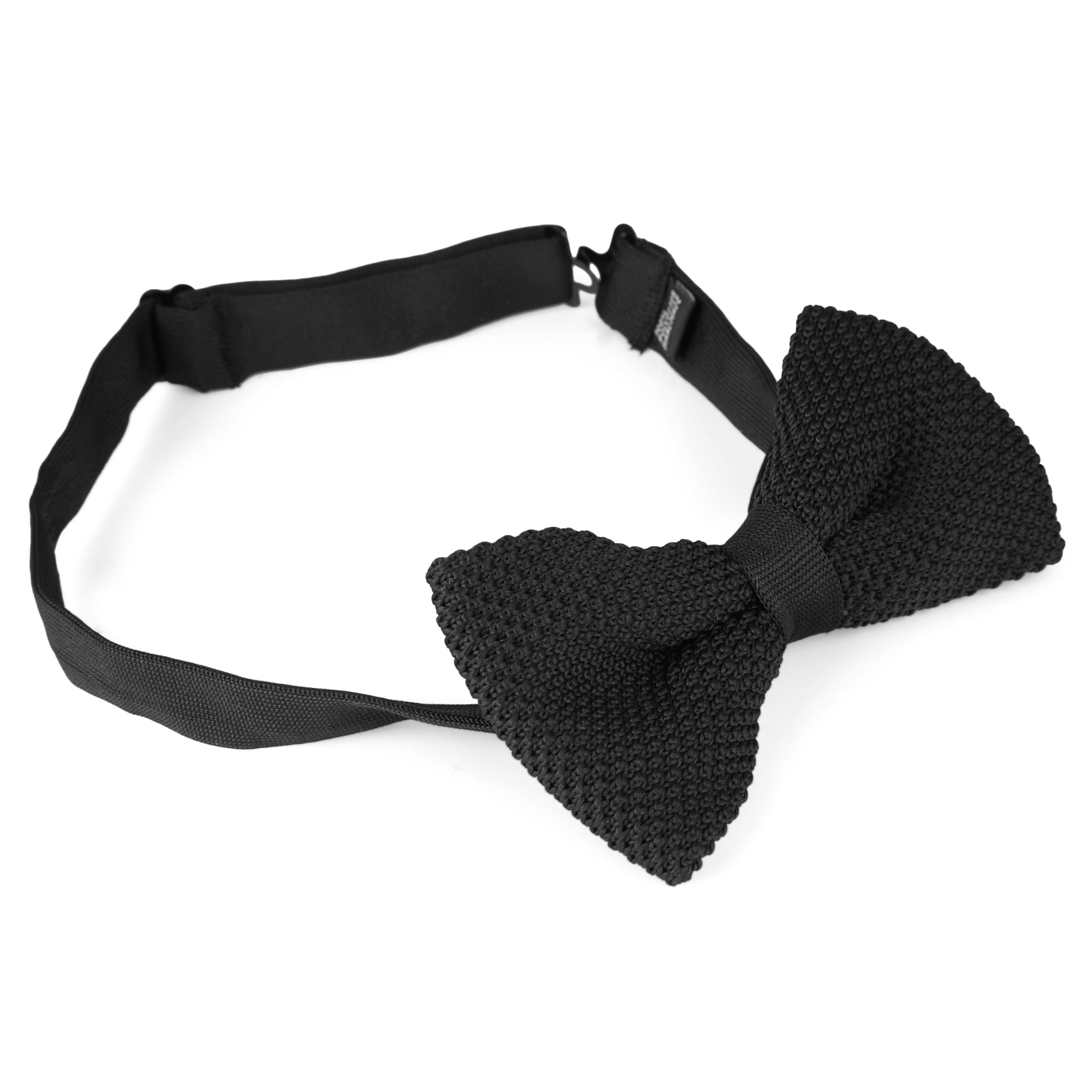 BLACK KNITTED BOW TIES