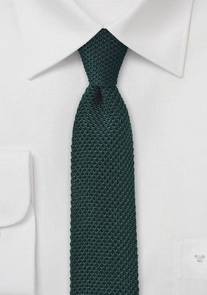 FORREST GREEN KNITTED SKINNY TIE