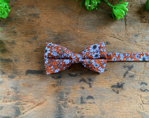 TERRACOTTA FLORAL BOW TIES