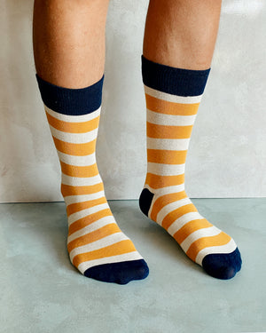 MUSTARD STRIPED SOCKS