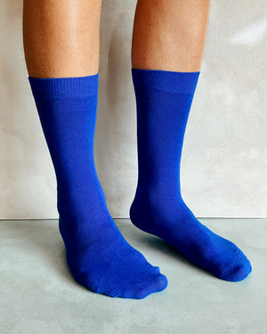 BRIGHT BLUE SOCKS