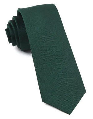 SOLID FORREST GREEN SILKY TIE FINISH