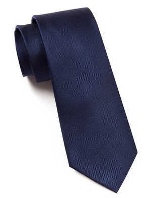 SOLID BLUE SILKY TIE FINISH