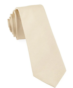 SOLID LIGHT CHAMPAGNE YELLOW SILKY FINISH TIE