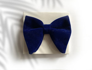 VELVET BLUE BOW TIES