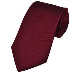 SOLID MAROON SILKY FINISH TIE