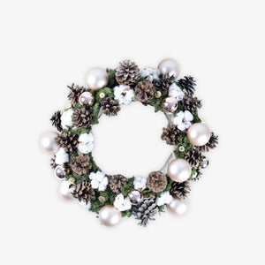 Wreath and Pine cone