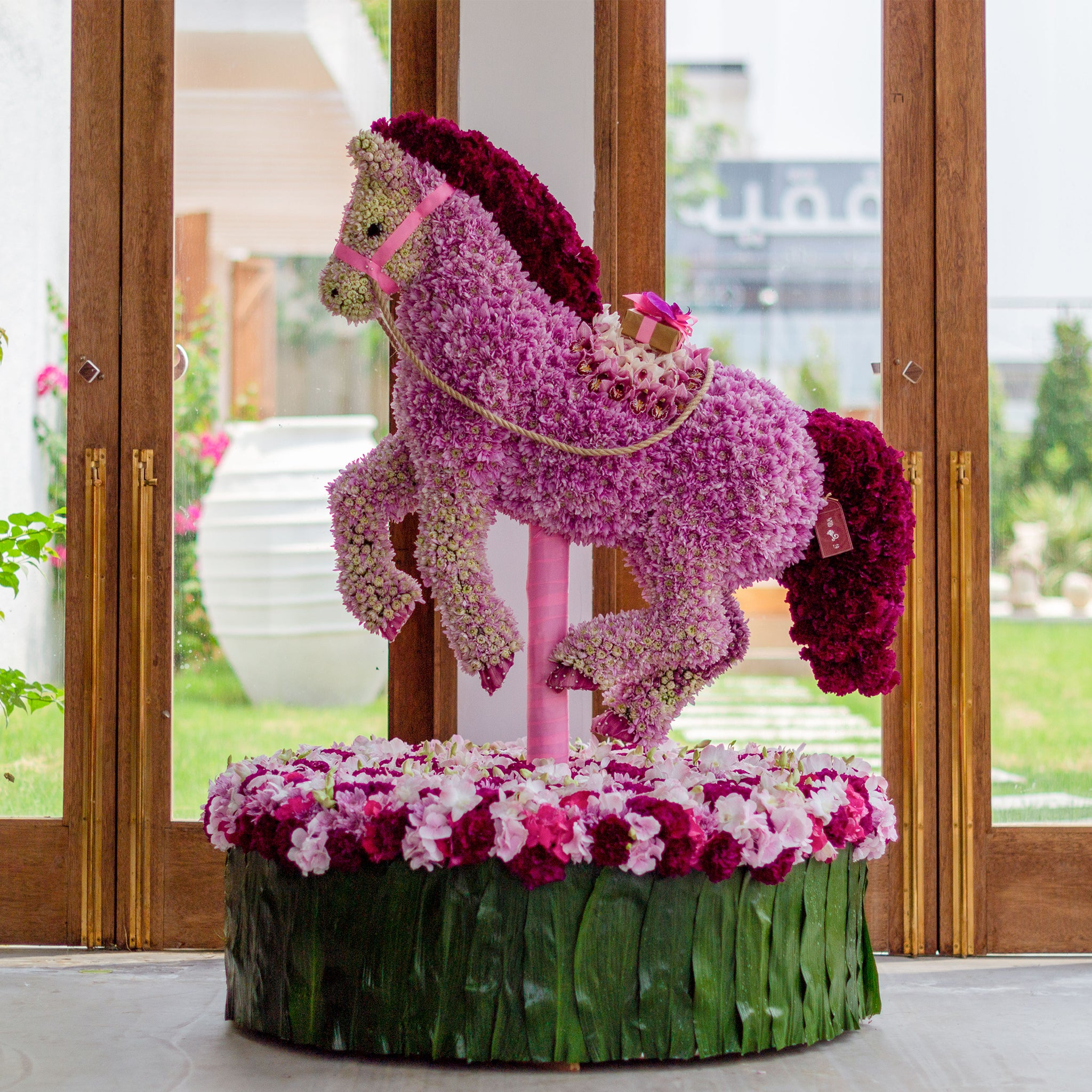Pink Horse - Wudflowers