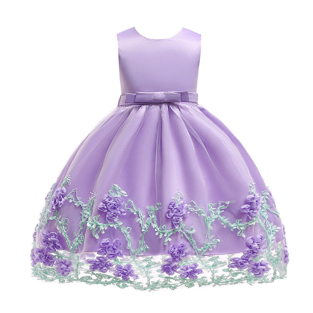 girls dresses for party and wedding Flower Baby Princess Tutu Dress Print Sleeveless Formal Clothing Dresses robe pour fille