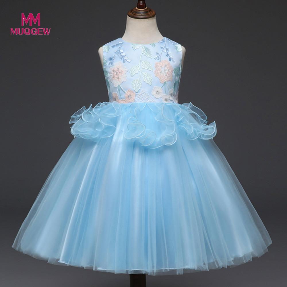 baby girl summer clothes sleeveless Floral Print Bowknot Lace Princess Formal lovely Cute Dresses robe pour fille vestido para