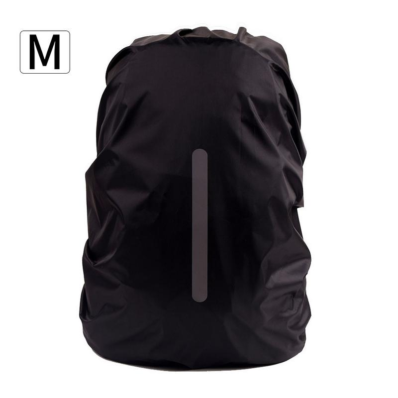 IKSNAIL Reflective Waterproof Backpack Rain Cover Outdoor Sport Night Cycling Safety Light Raincover Bag Camping Hiking 55L Bags
