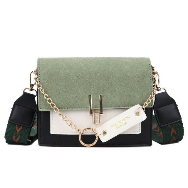 2019 new mini handbags women fashion ins ultra fire retro wide shoulder strap messenger bag purse simple style Crossbody Bags