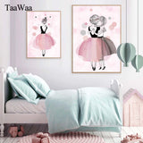 Ballet girl paiting for bed room decor