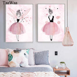 Pink girl picture for lliving room decor
