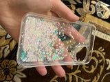 Customer show the liquid sand iphone case