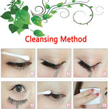 Cleaning method after wearing pink eyelashes
