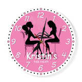 Pink clock for lobby