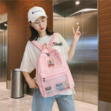 Giel carry Pink bag on the front