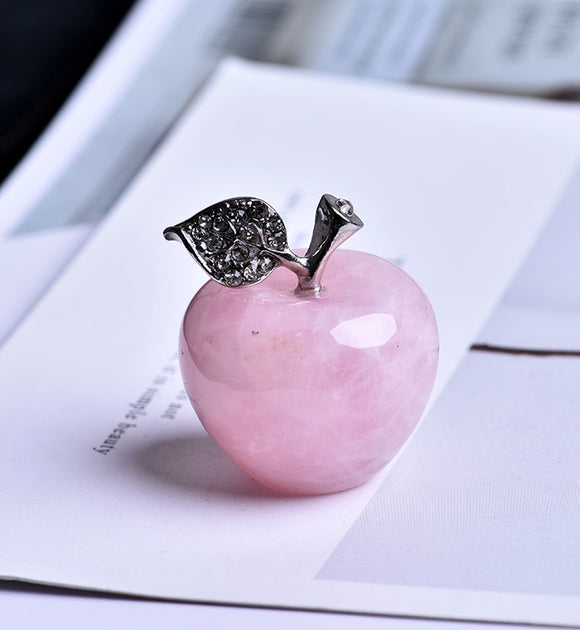 Pink Apple on study room desktop