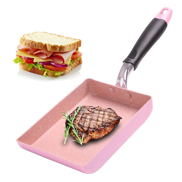 Pink pan for frying stick