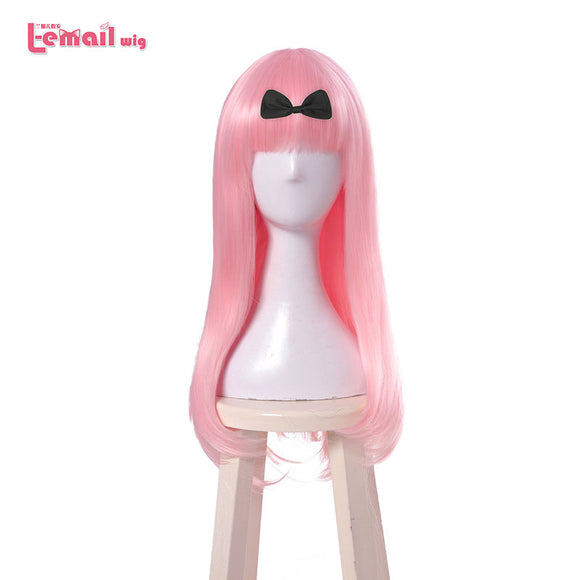 Pink Cosplay Wigs Heat Resistant Synthetic Hair 65cm