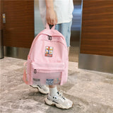 Pink double shoudler bag for teen girls