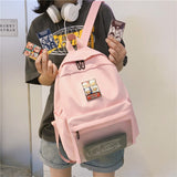 Pink aterproof backbag for girl school bag