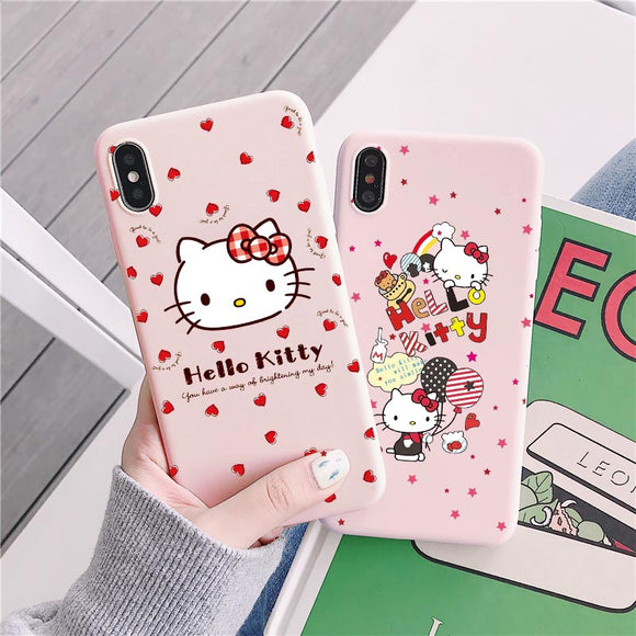 Pink iPhone case hello kitty