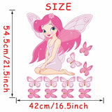 Fairy Girl Pattern Wall decor Size: 21.5x16.5in