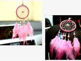 Pink dreancatcher for car decoration