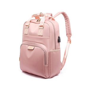 Pink laptop backbag