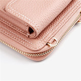 Pink wallet with single string for lady