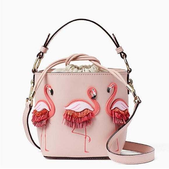 Shoulder bag with Flamingo embroidery