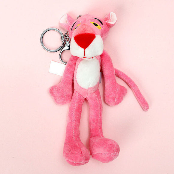 Naughty Leopard Pink Panther Key Chain Plush Stuffed Toys