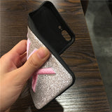 3D Embroidery Glitter Pink Shiny Pet dog Blinking Case for iPhone 11 pro X XS max XR