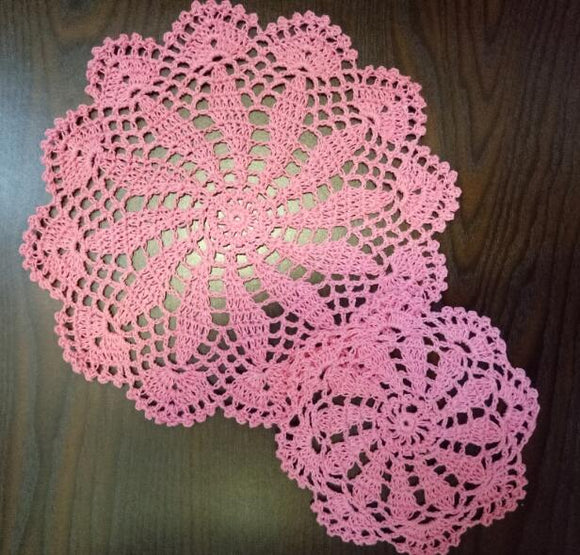 Pink table coaster