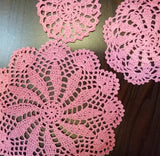 Pink kitchen table mat