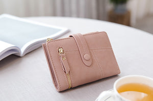 Women Pink Foldable Short Wallets