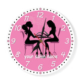 Pink clock for home decor